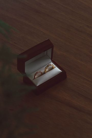 Bespoke wedding rings in box