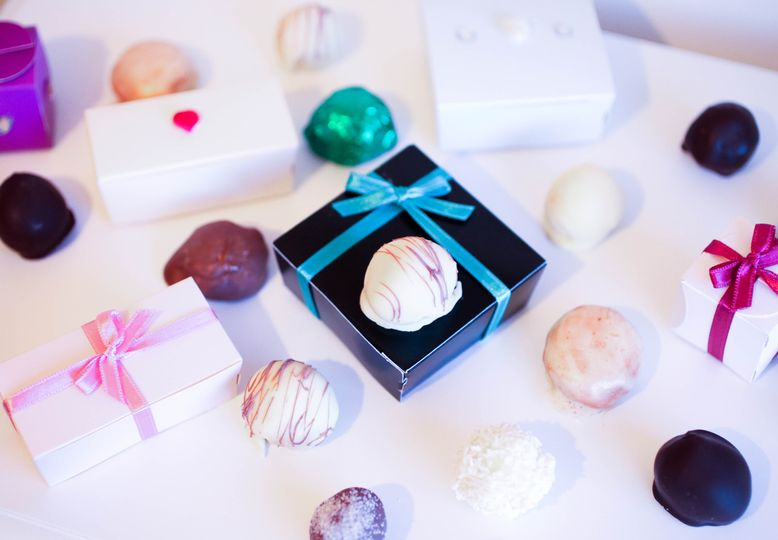 Favour boxes and truffles