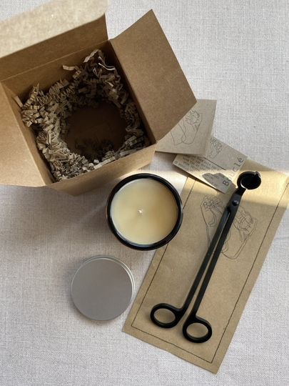 Candle and wick trimmer set