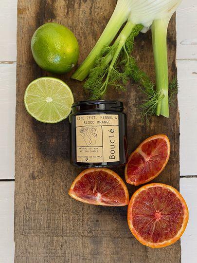 Lime, fennel, and blood orange