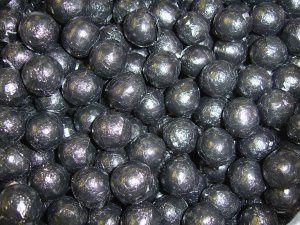Black foil chocolate balls