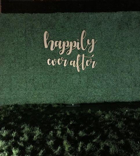 Foliage wall customised