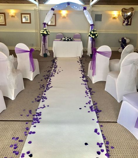 Wedding ceremony at St Leonards Hotel