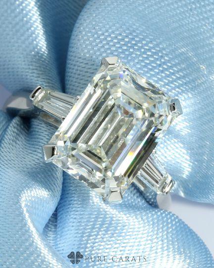 Emerald cut lab diamond ring