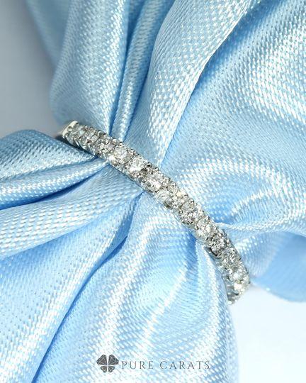 Lab grown diamond wedding band