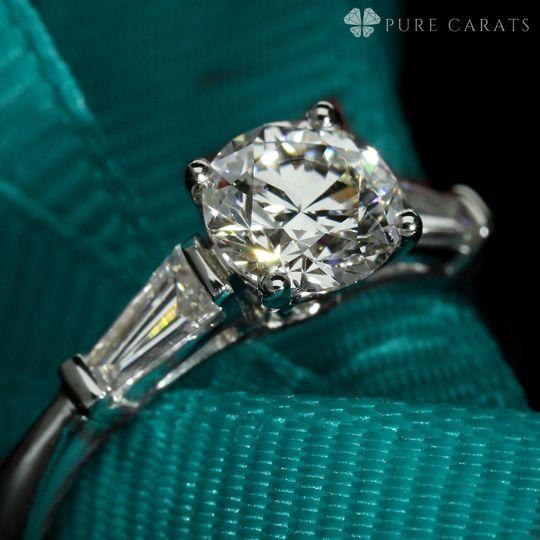 Three stone lab diamond ring