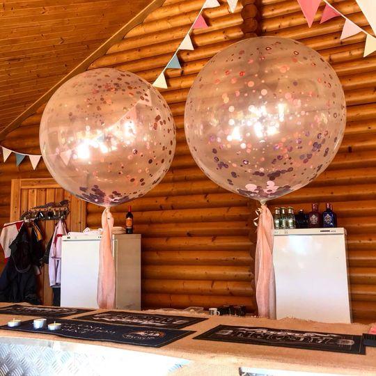 Confetti globes