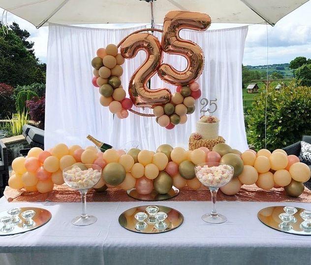 Beautiful wedding balloons