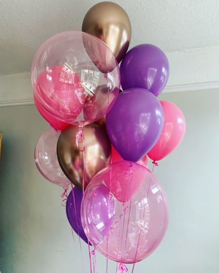 Mixed bouquet of balloons