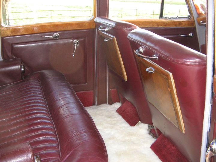 Burgundy leather interior