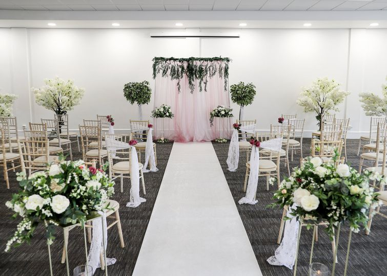 Intimate ceremony setting