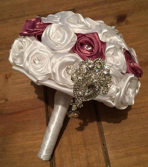 Handmade Satin Bridal Bouquet