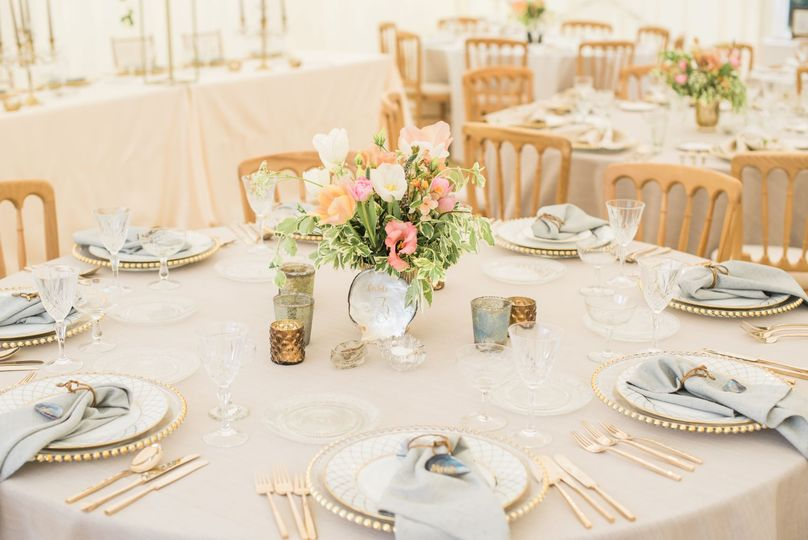 Marquee tablescape