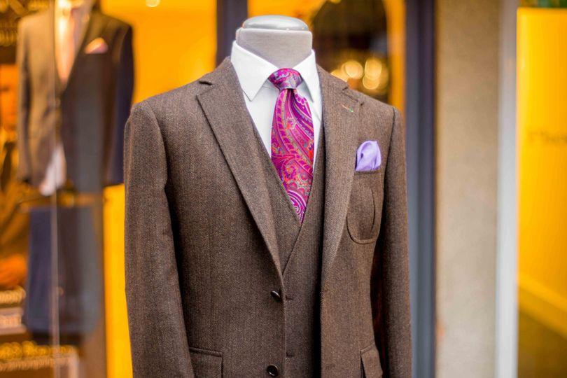Fully bespoke tweed suit