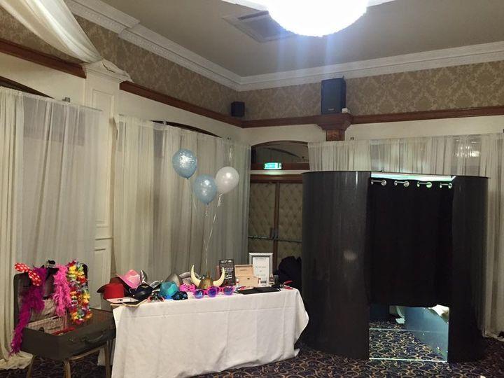 Black Glittery Booth