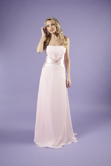bridesmaid daisy palest pink long front 3 4 244257 160061086392019