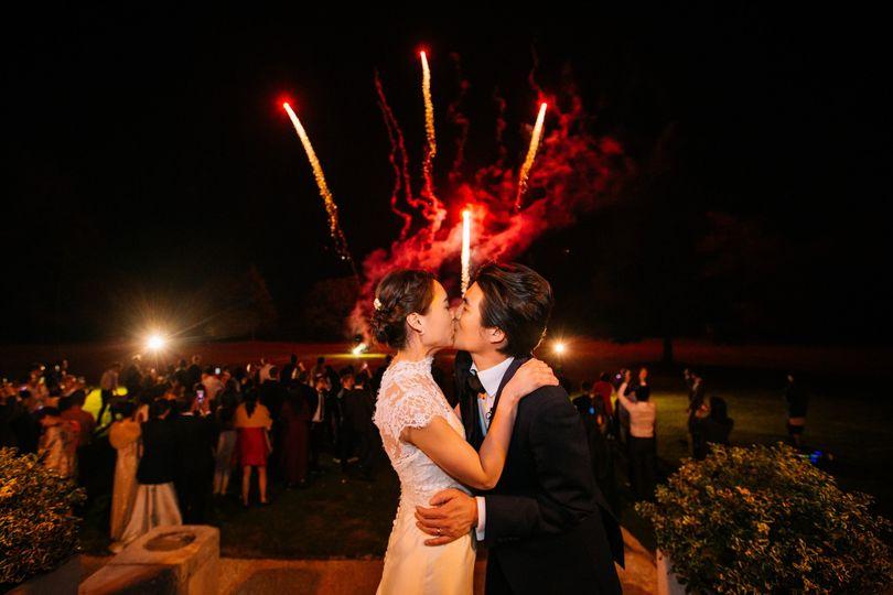 Wedding firework Stoke place