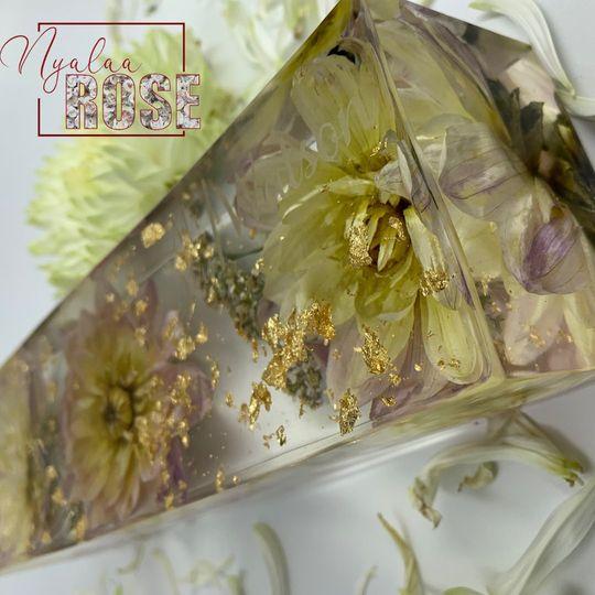 Resin flower preservation