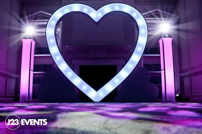 Giant LED love heart