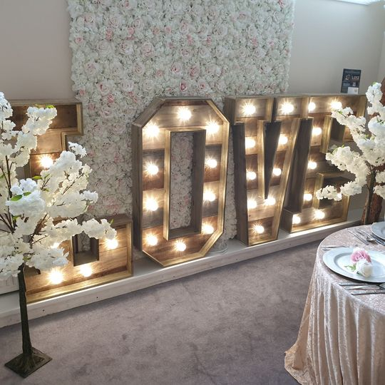 Showroom Letters with Blossoms