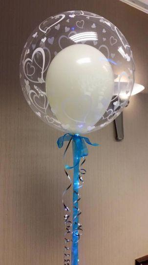 Lighted bubble balloon