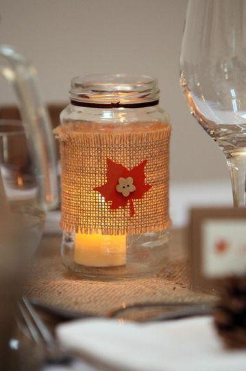 Our handmade tealight jars