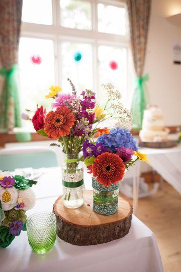 A colourful wedding