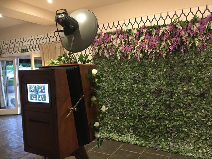 Wysteria Wall and Booth