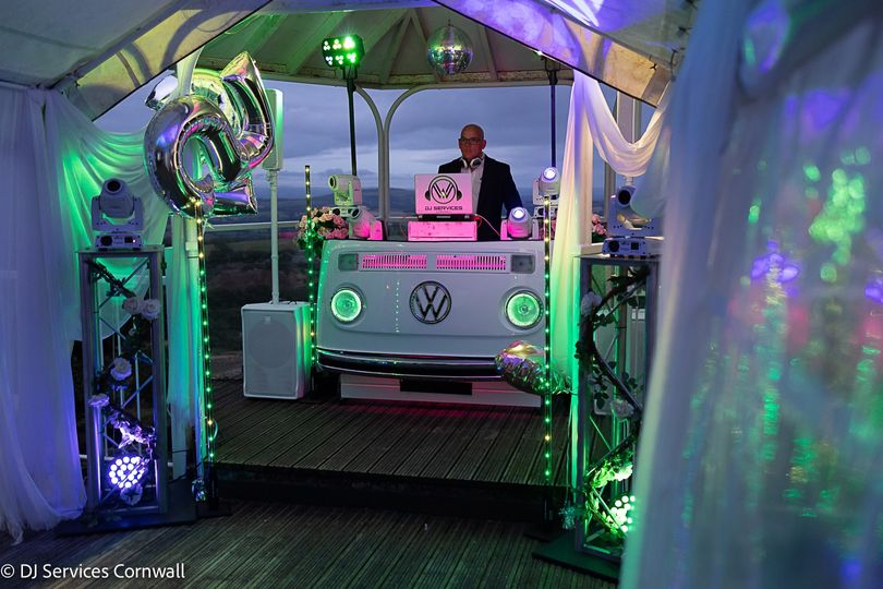 Front Centre White VW DJ Booth