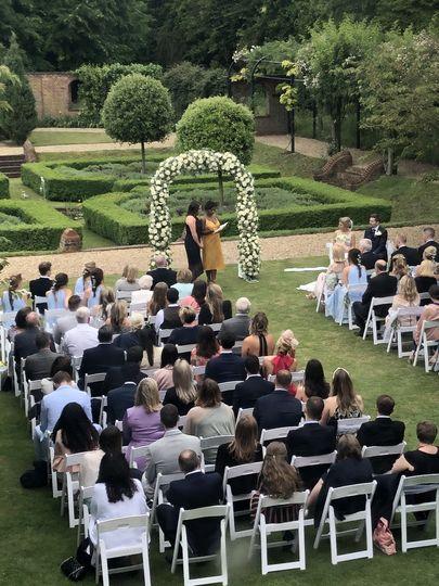 Wedding Blessing in the garden