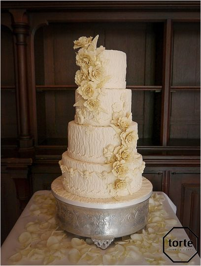 Cherubs, ivory wedding cake