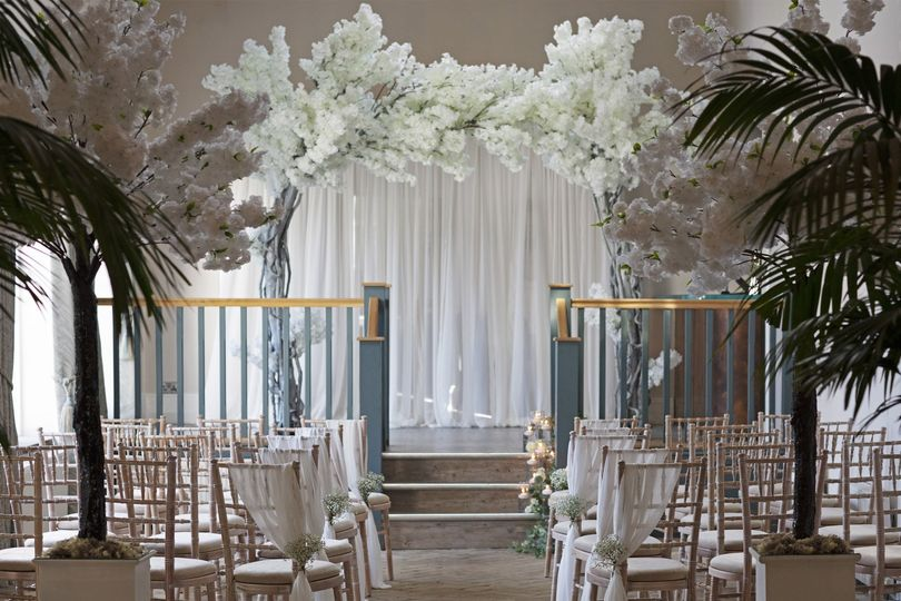 Palm Court wedding ceremony