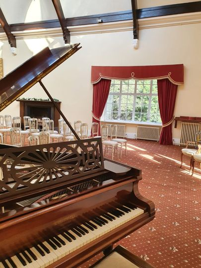 Piano inside the Great Gallery