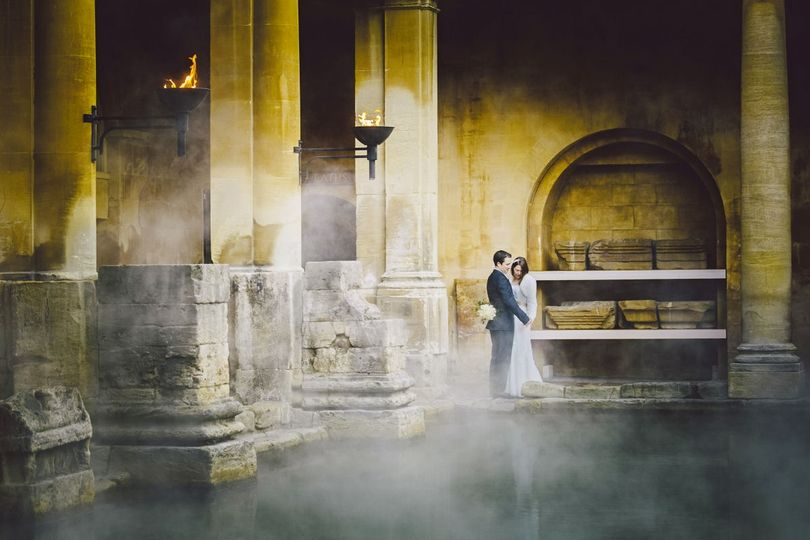 Roman Baths wedding (Mark Leonard Photography)