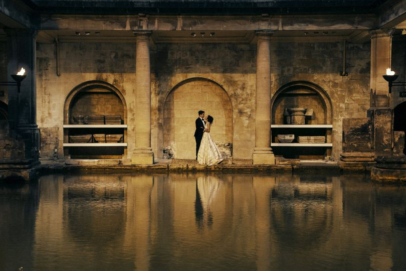Sunset Wedding at the Roman Baths
