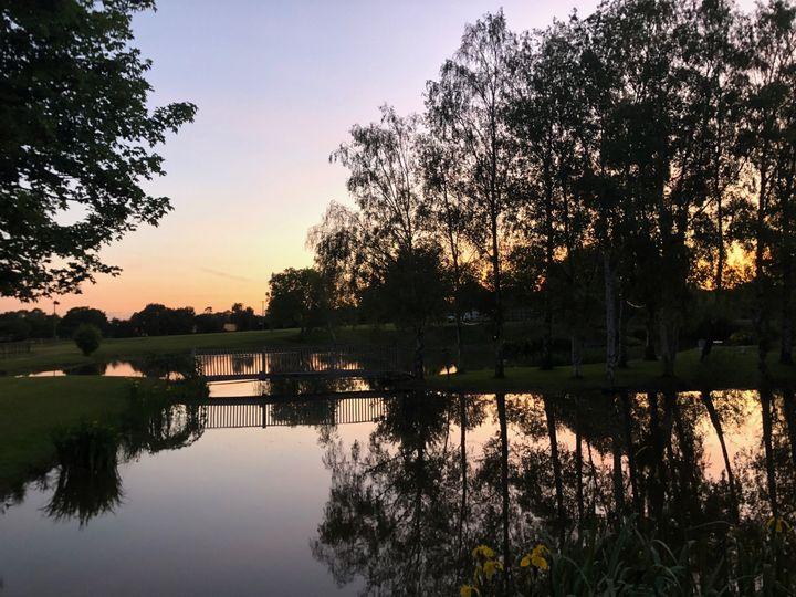 Lake view sunset