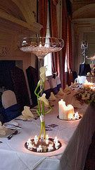 Tall champagne vase