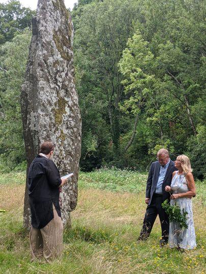 Commitment ceremony at Glanusk