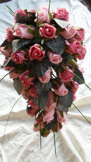 Traditional pink bridal teardrop