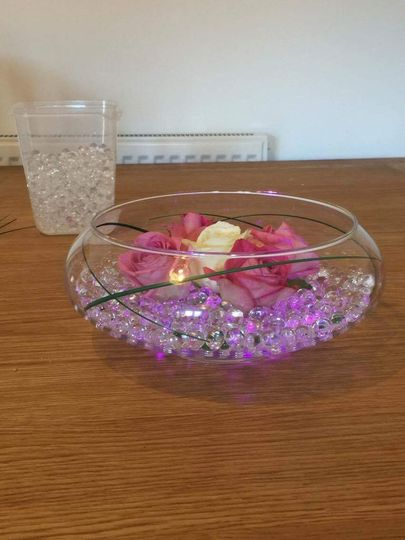 Gel balls and roses