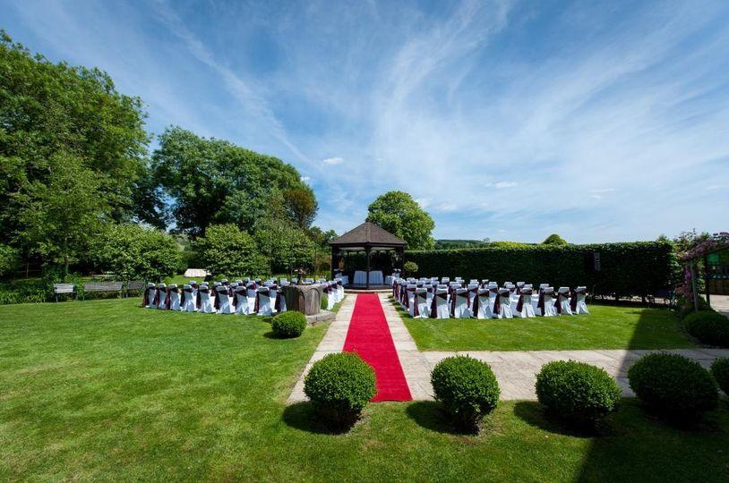 Outside Wedding Garden Ceremony