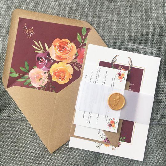 Autumn inspired Wedding Suite