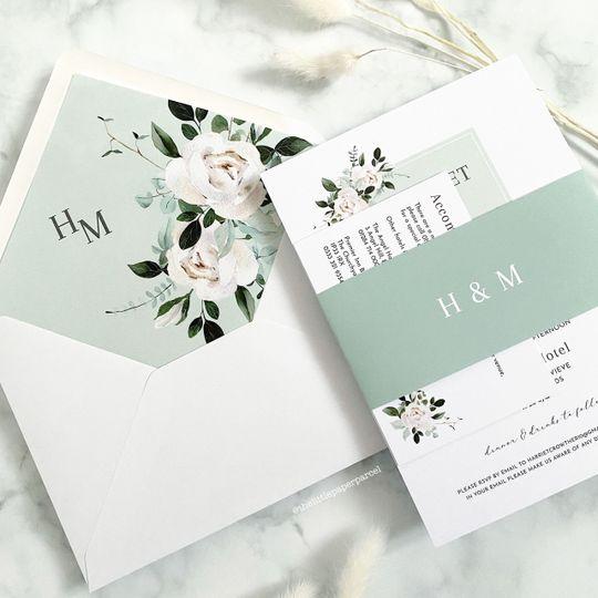 Sage Green & White