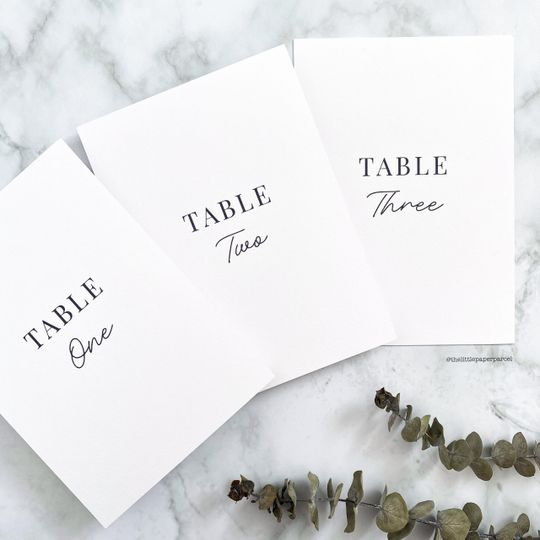 Table Numbers