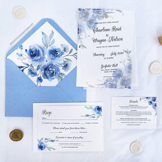 Vellum eyelet invitations