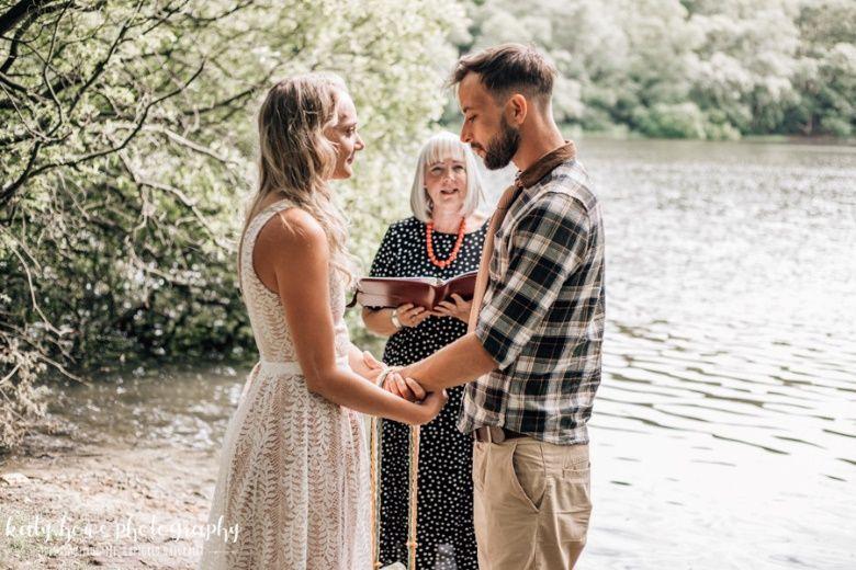 Lakeside elopement