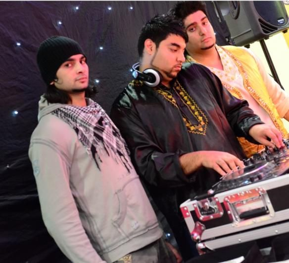 the DJs at work