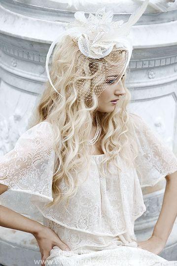 Crochet crown bridal