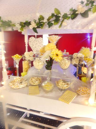 Candy yellow buffet
