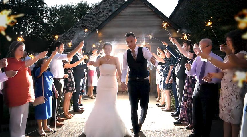 Exit with sparklers